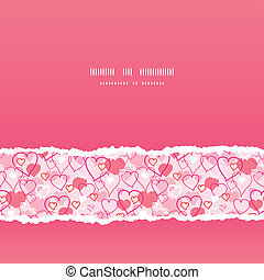 Valentine's Day hearts card seamless pattern background
