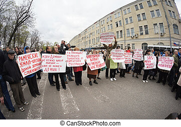 protest manifestation - MOSCOW - MAY 6: Participants of the...