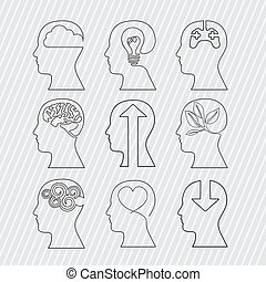 brains design over white background vector illustration