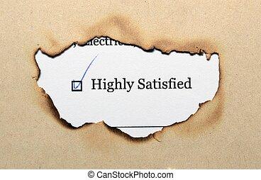 Survey form - satisfied