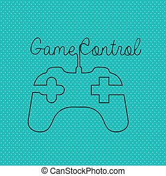 game controls over blue background vector illustration