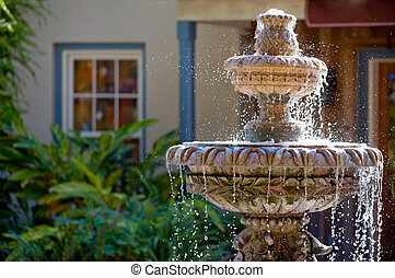 Garden fountain in St Augustine, Florida