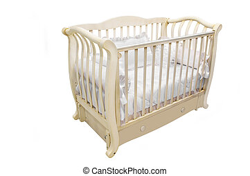 baby bed under the white background