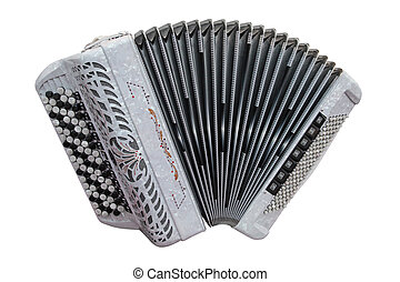 accordion - Image of accordion isolated under the white...