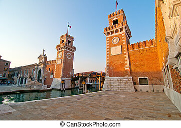 Venice Italy Arsenale ancient Serenissima militar structure