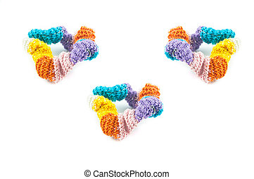 scrunchie - the scrunched up hair band with white background...