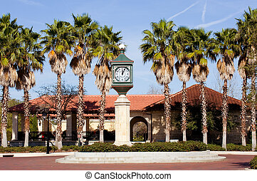 St. Augustine, Florida - Clock tower on town square in St....