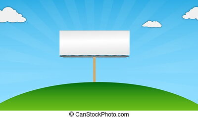 blank billboard on environment