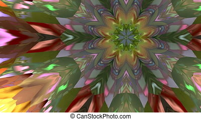 Changing flower - The multi-colored pattern similar to a...