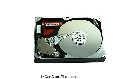 Harddisk - Hard drive is open to the memory side.