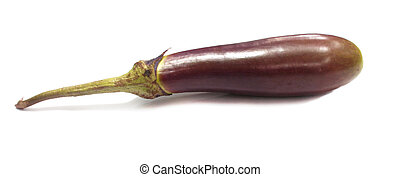 brinjal - a brinjal in white background