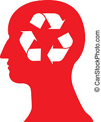recycle symbol in head vector