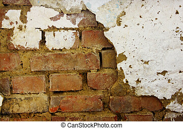 Background brick wall - Old weathered brick wall