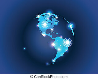 world map globe connection part 1