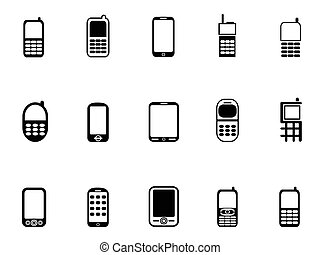 Mobile phone icons - isolated Mobile phone icons from white...
