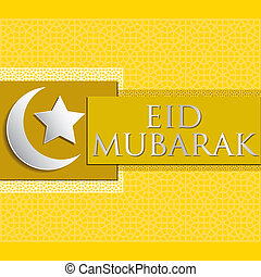 "Eid Mubarak! - Bright ""Eid Mubarak"" (Blessed Eid) card in..."