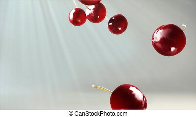 cherry falling down volume light