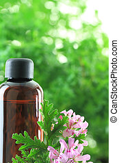 Bottle of Geranium essential oil