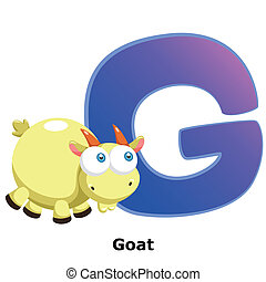 animal alphabet G - illustration of isolated animal alphabet...