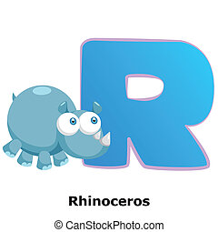 animal alphabet R - illustration of isolated animal alphabet...
