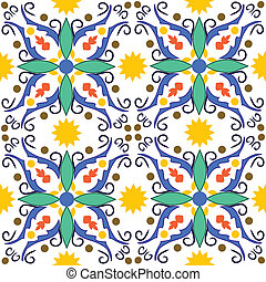 traditional mediterranean pattens - seamless vector pattern...