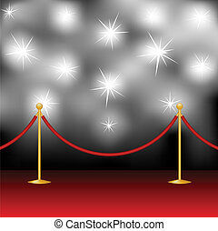 paparazzi - Red carpet, stanchion and paparazzi