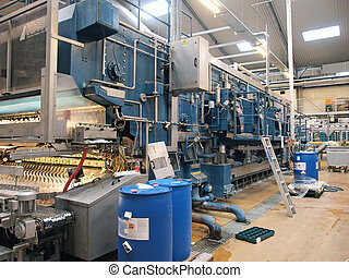 Machinery in a modern factory plant - Machinery conveyor...