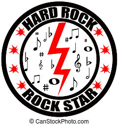 Hard rock - Stamp with text hard rock inside, vector...