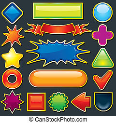 Colorful Design Element. Icon, Button Template