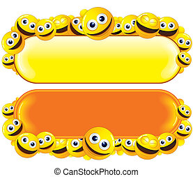 Funny Banner with Smiley Faces