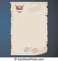 Top Secret Document Template - Blank Top Secret Document...