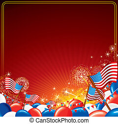 American Celebration. Independence Day Background