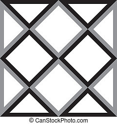 Abstract diamond square and triangle trydimensional illusion...