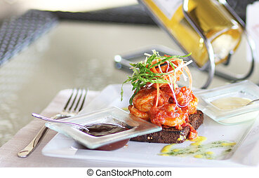 Romantic dinner in restaurant