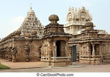 templo, dios, Vishnu, Kanchipuram