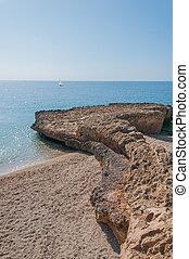 Ocean landscape with landform.