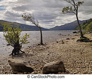 Loch Tay is a freshwater lake, about 14 miles 23KM long in...
