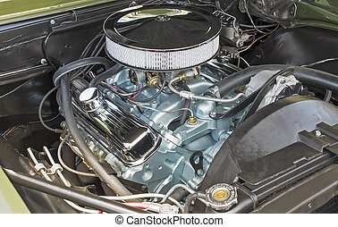 Customized V8 engine compartment - Customized high...