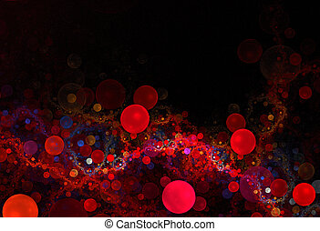 3D Red Cells - 3d red cells - abstract fractal layout