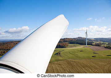 Part of a wind turbine wing