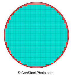 Untested Semiconductor wafer map closer look. Wafer with 900...