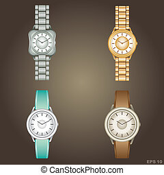 Wristwatch vector,gradient, EPS10