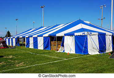 Tent at local fair - Striped or circus tent at local fair