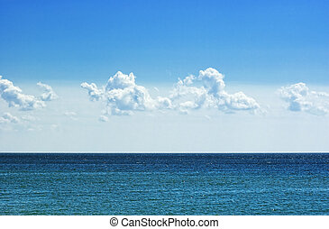 Ocean view in sunny summer day