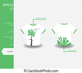 Corporate identity design for business - Tshirt