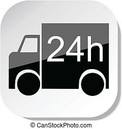 Service 24h - Truck 24h delivery icon vector eps 10