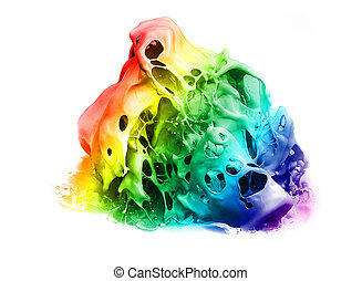 Prismatic splash - Prismatic vivid splash of color isolated...