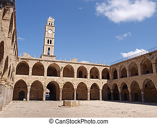 Akko Acre Israel Khan Al-Umdan Ottoman tower building