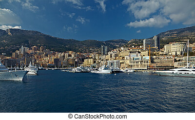 Monaco viewed from the water