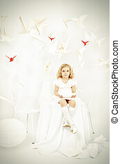 whiteness - Beautiful little girl in her dream world...